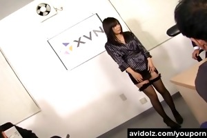 japanese office beauty screwed by lewd fellows