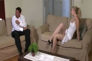 young blond cheats with her bf&#039 s daddy