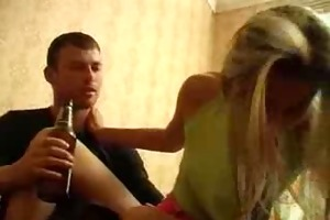 drunk little gal screwed by insane brother