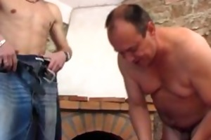 avid old chap receives plowed by youthful hunk