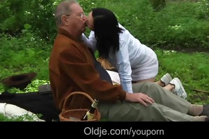 old chap meals and fucks with hawt teeny in the