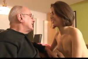 sexually excited gal engulfing old schlong