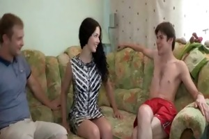 she is plays with large dick of boy