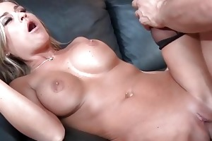 breasty golden-haired girl screwed by her allies