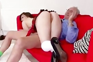 mature boy spanks wicked schoolgirl
