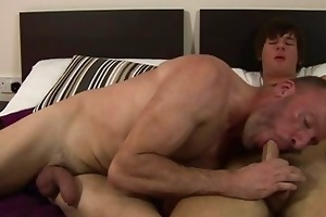 mature lad tasting new enchanting juvenile cock