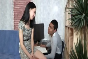 sweetheart widens lengthy legs