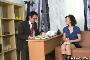 youthful coed enticed her teacher.
