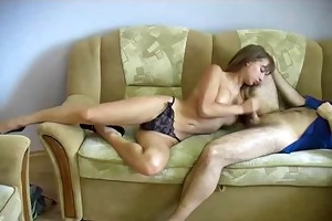 legal age teenager angel gives oral and titjob.