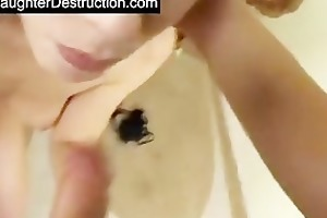 daughter face hole and twat drilled hard