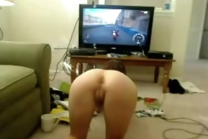 face down arse up playing xbox