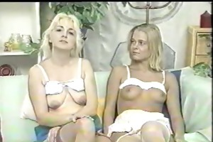 mother and step daughter strip, shave and play