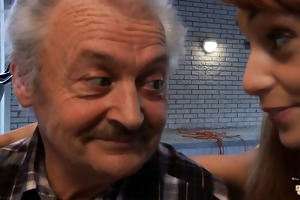 favourable oldman copulates with super hawt