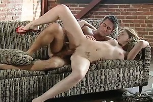 sexy gal screwed on unsightly daybed