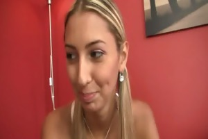 czech golden-haired angel cheats as her bf leaves