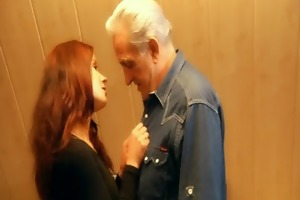 redhead excited hottie awards generous grandpa