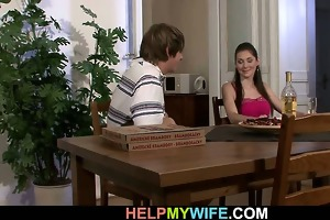 pizza boy does his youthful wife