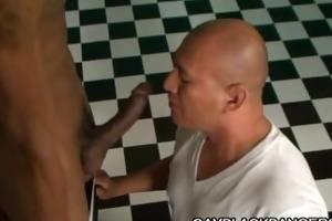 latino muscled dilf screwed by large dark weenie