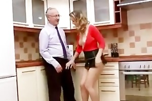 aged boy younger gal engulf and fuck