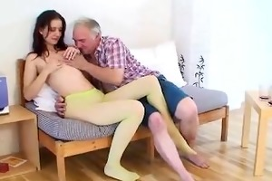 old guy seducing juvenile cutie