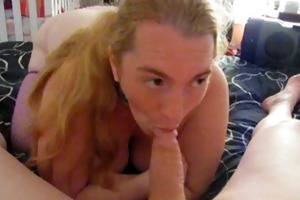 me engulfing step father in law penis during one