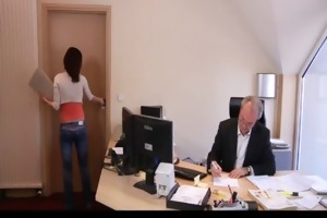 concupiscent juvenile secretary bonks her old boss