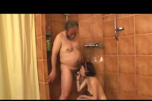 hottie drilled by aged chap