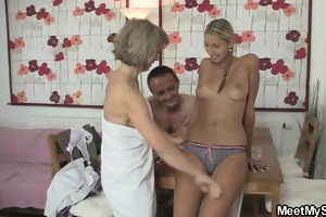 4some with her bfs buddy and olds