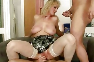 sexy grandma enjoys naughty sex wth younger chap