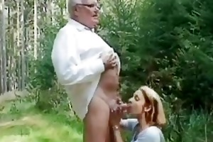 young hotty helping an old guy wi...