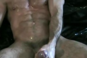 dad jerking off and getting a oral-service