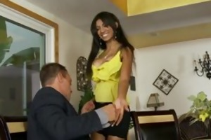 sexually excited latina wishes her step-fathers