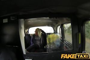 faketaxi juvenile blond takes on old rod
