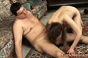 old cock copulates juvenile pussy